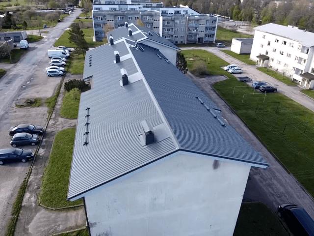 Kärdla Pae 8 katuse ehitus 2020 Kolgi Katused